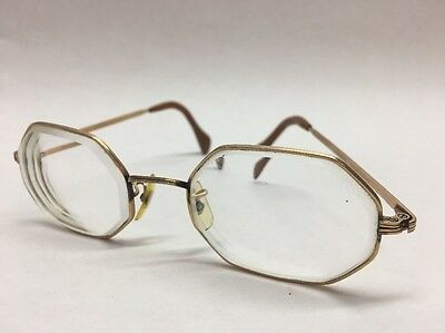 American Optical 12K GF Vintage Octagon Glasses Spectacles