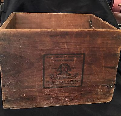 "RARE Antique Tailby Nason Co ""SPHINX"" Pharmaceutical COD LIVER OIL Wood Box"