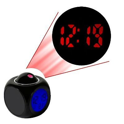LED Alarm Snooze Clock Wall/Ceiling Projection LCD Digital Voice Talking Display
