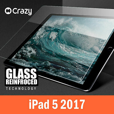 Tempered Glass Screen Protector For Apple New iPad 5 2017 - Crazy Premium Film