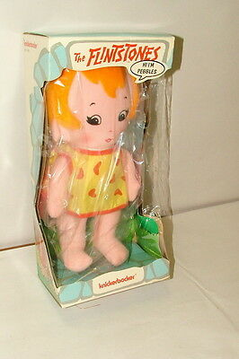 % 1974 Knickerbocker The Flintstones Pebbles  Figure Mint In Original Box