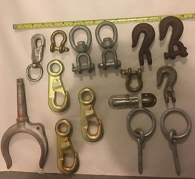 Vintage Boat Hardware Clips Hooks Swivel Crosby Brass Nautical