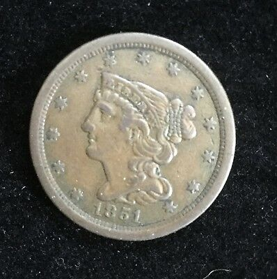 1851 Braided Hair Half Cent
