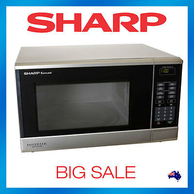 Sharp R350YS Inverter Sensor Microwave Oven Cook Stainless Steel 1200w R350Y