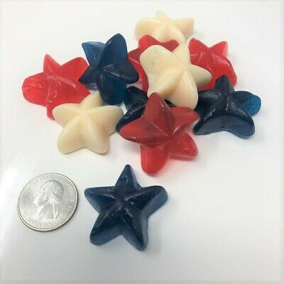 Patriotic Gummi Stars 5 pounds red white blue candy