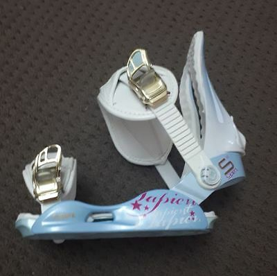 Blue and white Adult Snowboard Bindings - Sapient