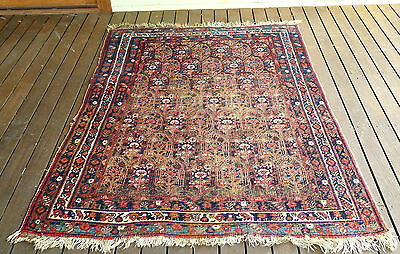 Genuine Rare Antique Afshari Tribal Hand Knotted Pile Rug C1910