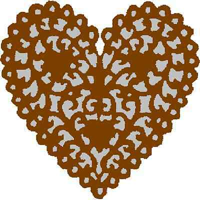 30 Custom Brown Tribal Heart Personalized Address Labels