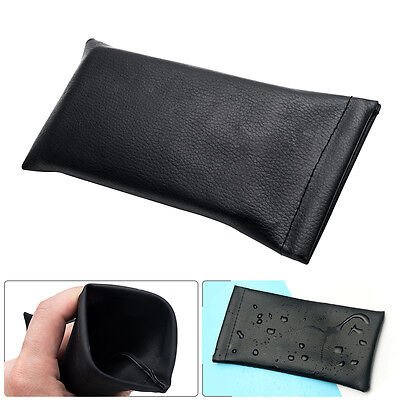 FREE POST - Mouth Snapped Sunglasses Eyeglass Glasses Case Soft Pouch Bag Pocket