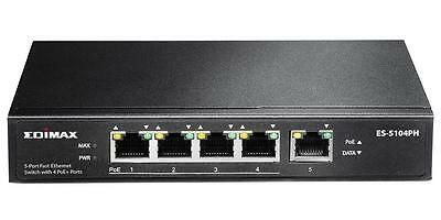 Edimax - ES-5104PH - Switch,5 Port Fast Ethernet,4 Poe+ Ports