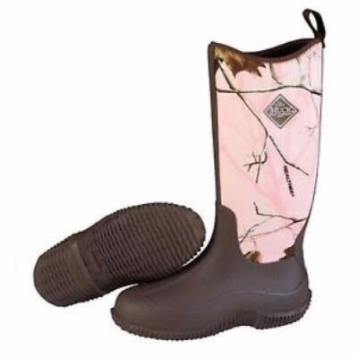 Muck Boots Muck Womens Hale Boot Brown Pink Realtree Apc Size 10 Haw-4Rap-10