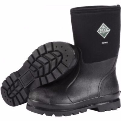 Muck Boots Muck Chore Mid Boot Black Size 9 Chm-000A-9