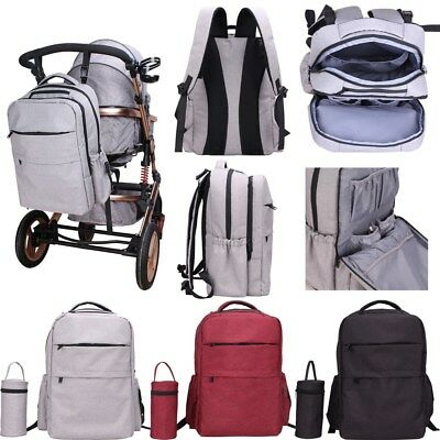 Multifunctional Baby Nappy Backpack Diaper Changing Bag Mummy Backpack Bag Black