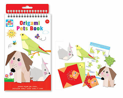 Kids Create Origami Pets Books Foldable Fun for Kids Printed Sheets Animals Gift