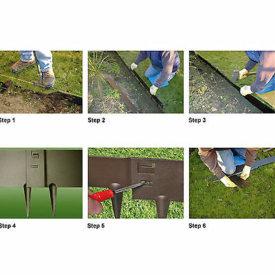 Landscaping Classic Lawn Edging Steel Plastic Garden Yard Path Driveway Everedge