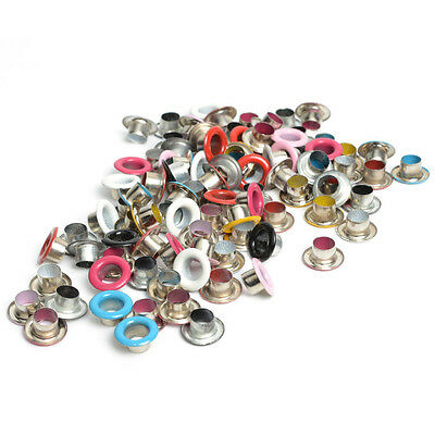 100PC Metal eyelets Scrapbooking DIY Embelishment Garment Clothes Buckle Apparel