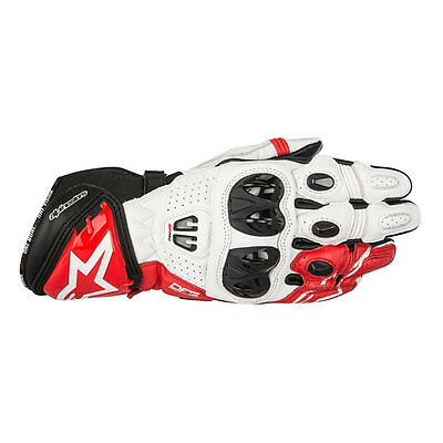 Alpinestars GP Pro R2 Black / White / Red Motorcycle Leather Gloves | All Sizes