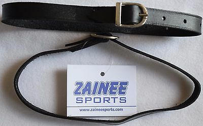 Leather Spur Straps, Black Good Quality 18'' Zainee Sports