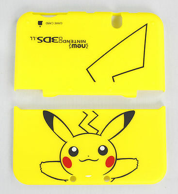 New Nintendo 3DS XL/LL Hard Shell Case Cover Pikachu Pokemon yellow
