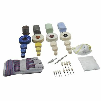 Combi Light Abrasive and Polishing Kit 37pc Suitable for all Materials POL11
