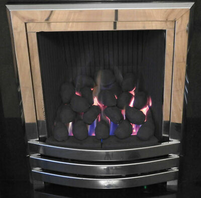20 LARGE CAST 65-70 X 60 X 50MM REPLACEMENT CERAMIC COALS FOR GAS FIRE RCF Cert