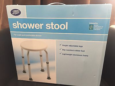 BOOTS SHOWER STOOL HEIGHT ADJUSTABLE ALUMiNIUM LEGS