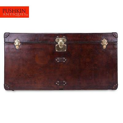 ANTIQUE 20thC RARE LOUIS VUITTON COW-HIDE STEAMER TRUNK c.1900