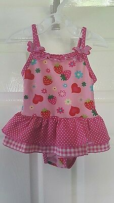 6-9 months girls swimming costume used pink