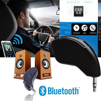 Wireless Bluetooth 4.2 3.5mm AUX Car Receiver Music Streaming Audio Adapter Mic