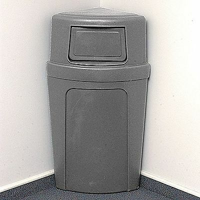 Continental 21 gal. Corner Round Gray Trash Can - 8325-GY