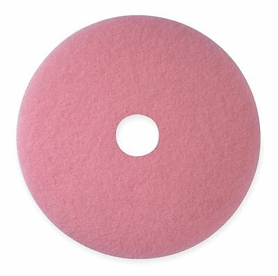 """3M 27"""" Pink Burnishing Pad, Non-Woven Polyester Fiber, Package Quantity 5 - 3600"""