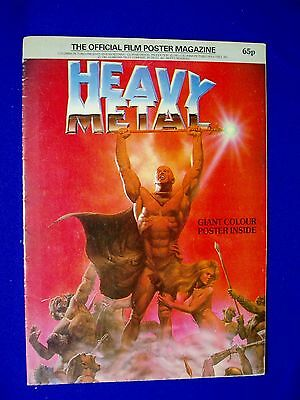 Official Heavy Metal Film Poster Magazine 1981. UK-publication. Corben cover.