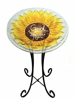 Evergreen Enterprises, Inc God Bless Our Home Birdbath Set of 2