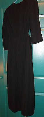 Amish Dress, Woman's Black Cape Style, with separate apron