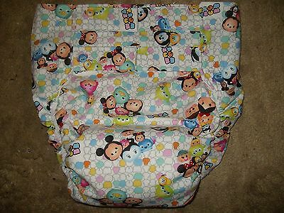 Dependeco All In One cloth adult baby diaper S/M/L/XL  (disney's tsum tsum)