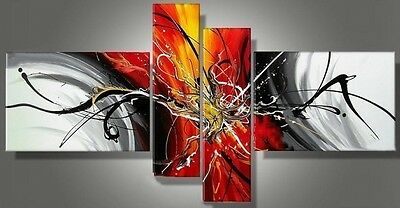 NEW 4pc MODERN ABSTRACT HUGE WALL ART OIL PAINTING  (No Frame)