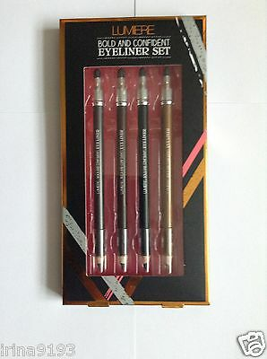 Lumiere Bold And Confident 4 X Eyeliner Set Gift Set + Gift Bag Free