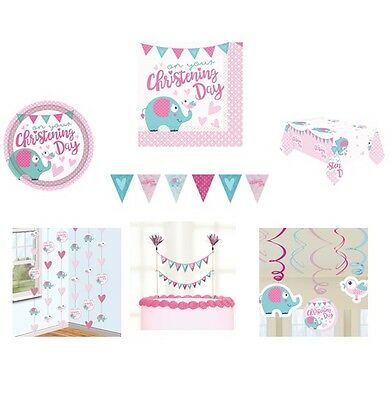 ON YOUR CHRISTENING PINK/GIRL Party Range - Tableware & Decorations {AMSCAN}