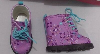 New American Girl - New in Box -  Authentic Floral Boots ONLY for Doll Size