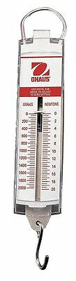 Ohaus Spring Scale, 2000g/72 oz. Capacity, Stainless Steel - 8004-MA