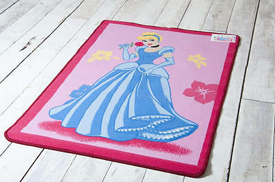 Children's Rug / Play Mat Official Disney Cinderella Princess in Pink 95 x 133cm