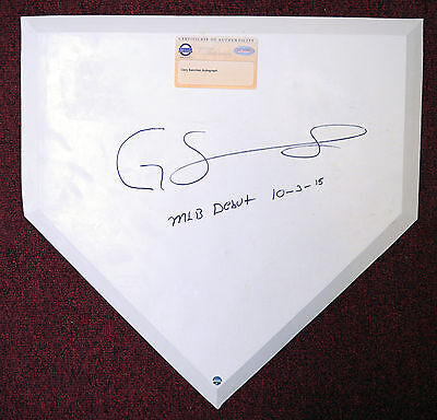 Gary Sanchez Yankees Signed / Autographed Home Plate w/Steiner COA