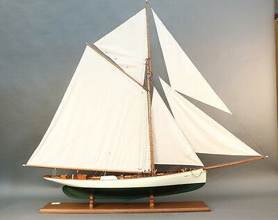 "Model of America's Cup Defender ""Puritan"""