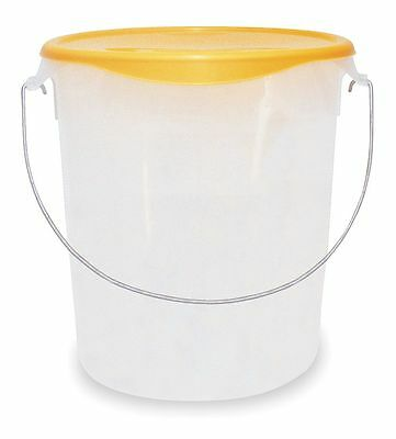 "Rubbermaid 13-1/8"" x 6-1/4"" x 14"" Polyethylene Round Storage Container, White -"
