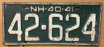 NEW HAMPSHIRE 1940-41 License Plate