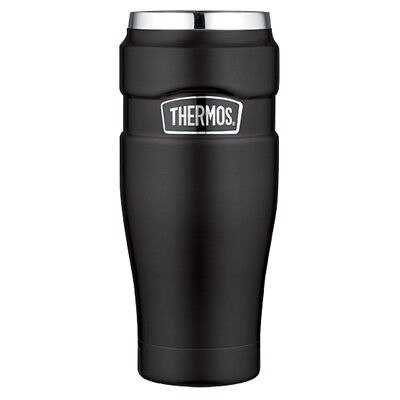 Thermos Stainless King Travel Tumbler 16 Oz Matte Black [Sk1005Bktri4]