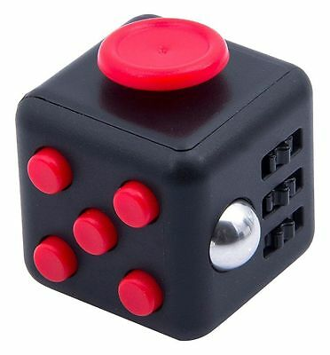 Fidget Cube Relieves Stress and Anxiety for Children and Adults (Black/Red) UK