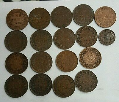 A lot of old Canadian coins