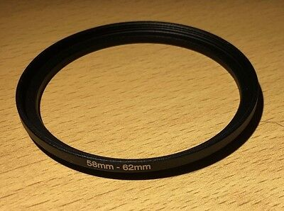 Lens Filter Ring Step Up Adapter  58-62 mm  58mm - 62mm 58mm to 62mm UK