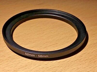 Lens Filter Ring Step Up Adapter  52-58 mm  52mm - 58mm 52mm to 58mm UK